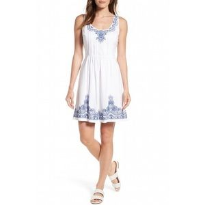 Vineyard Vines Embroidered Fit & Flare Dress, NWT
